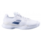 Babolat Men's Jet Mach II Grass Court Tennis Shoes (White/Estate Blue) - Babolat Tennis Shoes