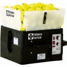 Tennis Tutor Ball Machine w/ 2 Button Remote & Dual 2-Line - Portable Sports Tutor Tennis Ball Machines