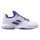Babolat Women's Propulse Fury All Court Tennis Shoes (White/Purple) -