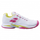 Babolat Women's Propulse Blast All Court Tennis Shoes (White/Red Rose) -