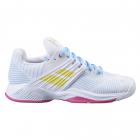 Babolat Women's Propulse Fury All Court Tennis Shoes (White/Sulphur Spring) -