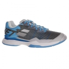 Babolat Women's Jet Mach I All Court Tennis Shoe (Silver/Horizon Blue) -
