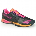 Babolat Women's Jet All Court Tennis Shoes (Grey/Orange/Pink) - Types of Tennis Shoes