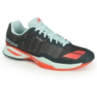 Babolat Women's Jet Team Clay Court Tennis Shoes (Grey/Blue/Red) - Types of Tennis Shoes