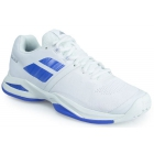 Babolat Women's Propulse Blast All Court Tennis Shoes (White/Wedgewood) - New Tennis Shoes
