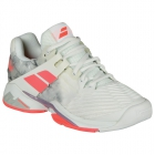 Babolat Women's Propulse Fury All Court Tennis Shoes (White/Fluo Strike) - Babolat Tennis Shoes