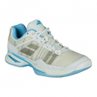 Babolat Women's Jet Mach I AC Tennis Shoe (White/Sky Blue) - How To Choose Tennis Shoes