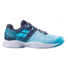 Babolat Women's Propulse Blast All Court Tennis Shoes (Grey/Blue Radiance) -