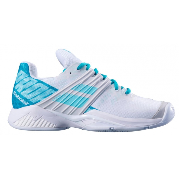 Babolat Women's Propulse Fury All Court Tennis Shoes (White/Mint Green)