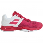 Babolat Women's Propulse Blast All Court Tennis Shoes (White/Vivacious Red) - Babolat Propulse Tennis Shoes