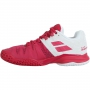 Babolat Women's Propulse Blast All Court Tennis Shoes (White/Vivacious Red)