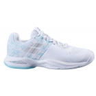 Babolat Women's Propulse Blast All Court Tennis Shoes (White/Blue Stream) - Babolat Propulse Tennis Shoes