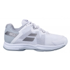 Babolat Women's SFX 3 All Court Tennis Shoes (White/Silver) - Specials & Deals on Premium Tennis Gear