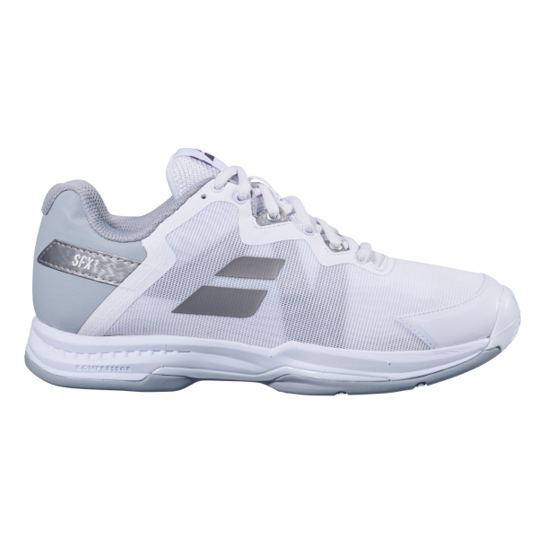 Babolat Women's SFX 3 All Court Tennis Shoes (White/Silver)