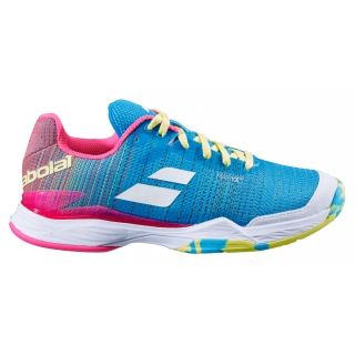 Babolat Women's Jet Mach II Clay Court Tennis Shoe (Capri Breeze/Pink)