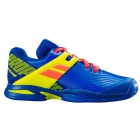 Babolat Propulse All Court Junior Tennis Shoes (Blue/Fluo Aero) - Babolat Junior Tennis