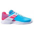 Babolat Propulse All Court Junior Tennis Shoes (Sky Blue/Pink) - Babolat Junior Tennis