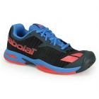 Babolat Junior Jet All Court Tennis Shoe (Grey/Red/Blue) - Babolat Tennis Shoes