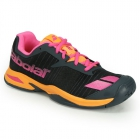 Babolat Junior Jet All Court Tennis Shoe (Grey/Orange/Pink) - MAP Products
