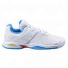 Babolat Junior Propulse All Court Tennis Shoe (White/Diva Blue) -