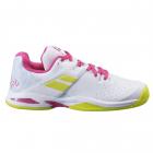 Babolat Junior Propulse All Court Tennis Shoe (White/Red Rose) -