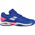 Babolat Propulse All Court Junior Tennis Shoes (Princess Blue/Fandango Pink) - New Tennis Shoes