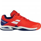Babolat Propulse All Court Junior Tennis Shoes (Bright Red/Estate Blue) - New Tennis Shoes