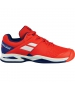 Babolat Propulse All Court Junior Tennis Shoes (Bright Red/Estate Blue) - Tennis Shoes