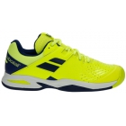 Babolat Propulse All Court Junior Tennis Shoes (Fluo Yellow/Estate Blue) - Babolat Tennis Shoes