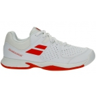 Babolat Pulsion All Court Junior Tennis Shoes (White/Bright Red) - Babolat Junior Tennis