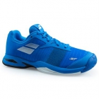 Babolat Junior Jet All Court Tennis Shoe (Blue/White) - Tennis Shoes for Kids