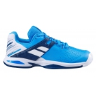 Babolat Junior Propulse All Court Tennis Shoes (White/Blue Aster) - Junior Equipment Brands