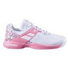 Babolat Junior Propulse All Court Tennis Shoes (White/Geranium Pink) - Babolat Tennis Shoes