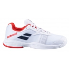Babolat Junior Jet All Court Tennis Shoe (White/White) -