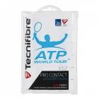 Tecnifibre Pro Contact Overgrip 12-Pack (White) - Tennis Over Grips