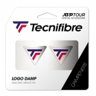 Tecnifibre TF Logo Damp 2 Pack White/Blue/Red Dampeners -