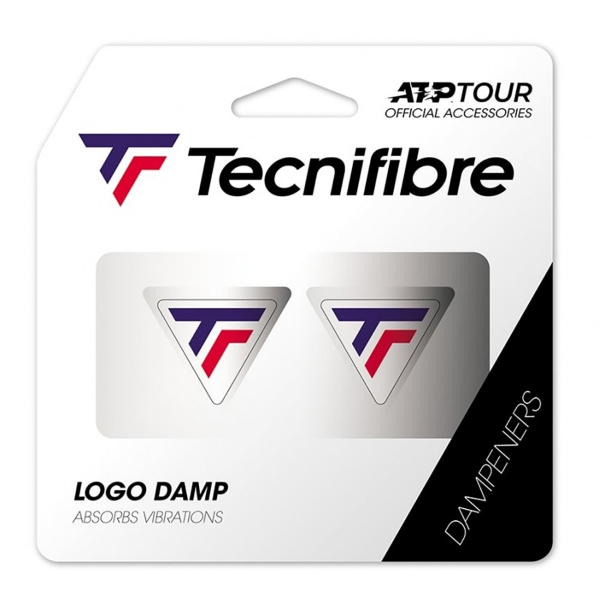 Tecnifibre TF Logo Damp 2 Pack White/Blue/Red Dampeners