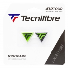 Tecnifibre TF Logo Damp 2 Pack Green/Black Dampeners -