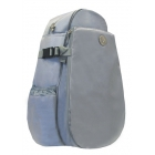 Jet Silver Nylon Deluxe Two Strap Backpack - Jet Deluxe Large Tennis Bags