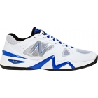 New Balance Men's MC1296 (2E) (White/ Blue) - Men's Tennis Shoes