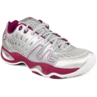 Prince Women's T22 Tennis Shoe (Silver/ Berry) - Prince Tennis Shoes