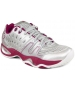 Prince Women's T22 Tennis Shoe (Silver/ Berry) - Prince T-22 Series Tennis Shoes