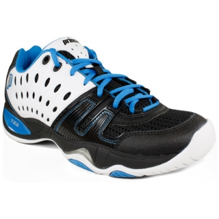 Prince Men's T22 Tennis Shoes (White/ Black/ Blue)