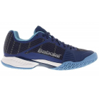 Babolat Women's Jet Mach I AC Tennis Shoe (Estate Blue/Silver) -