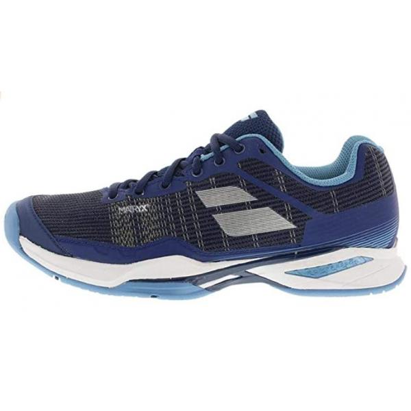 39S18651-4003 Babolat Women's Jet Mach I AC Tennis Shoe (Estate Blue/Silver)