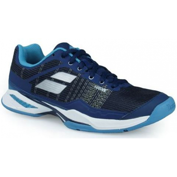 Babolat Women's Jet Mach I AC Tennis Shoe (Estate Blue/Silver)