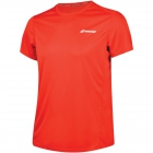 Babolat Boy's Core Flag Club Tennis Tee (Fiery Red) - Boy's Tennis Apparel