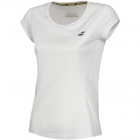 Babolat Girls' Core Flag Club Tee (White/White) - Shop the Best Selection of Tennis Apparel