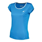 Babolat Girls' Core Flag Club Tee (Diva Blue) - Girl's Tennis Apparel
