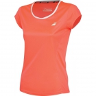 Babolat Girls' Core Flag Club Tee (Fluo Strike) - Girl's Tennis Apparel